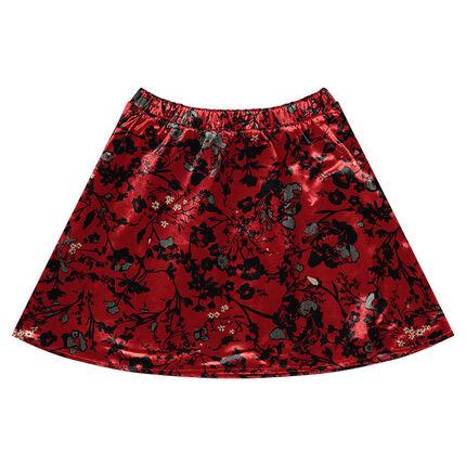 Παιδικά - Εμπριμέ βελούδινη φούστα πατινάζ