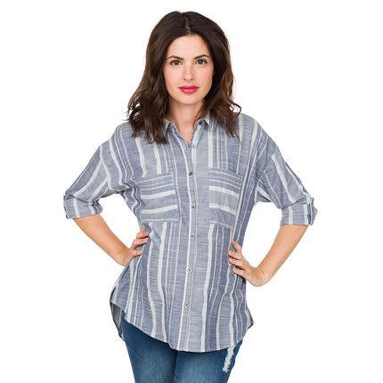 Μακρυμάνικο ριγέ πουκάμισο εγκυμοσύνης