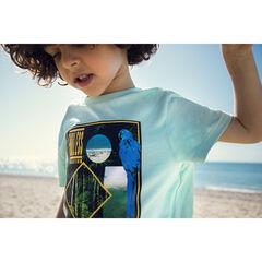 T-shirt κοντομάνικο μπλε με σχέδιο σε στυλ jungle , Orchestra