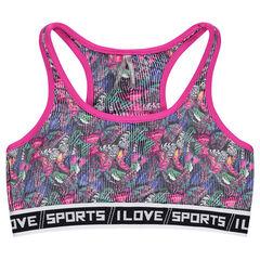 Αθλητικό μπουστάκι με στάμπα πεταλούδες