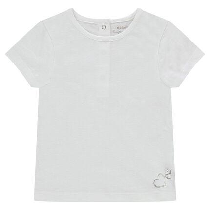 Κοντομάνικη μπλούζα από ζέρσεϊ με τυπωμένο λογότυπο