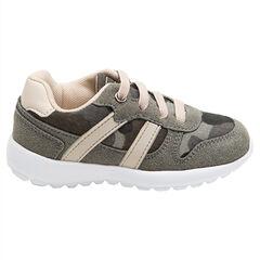 Χαμηλά αθλητικά παπούτσια με κορδόνια και μιλιτέρ μοτίβο