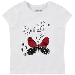 Κοντομάνικη μπλούζα με πεταλούδα από «μαγικές» πούλιες