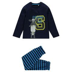 Pyjama en jersey print Shaun Le Mouton