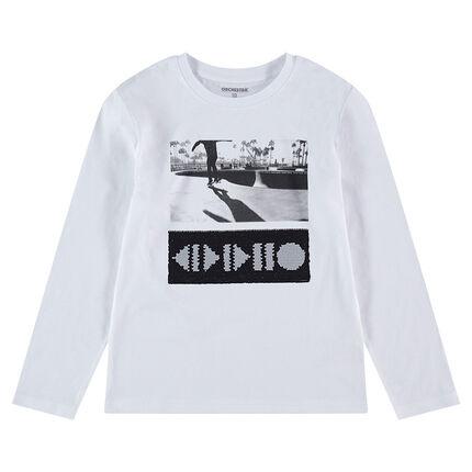 Παιδικά - Μακρυμάνικη μπλούζα από ζέρσεϊ με μοτίβο από «μαγικές» πούλιες