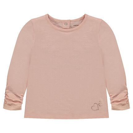 Μακρυμάνικη μπλούζα από ζέρσεϊ με τυπωμένο λογότυπο