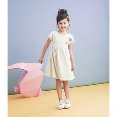 Κοντομάνικο φόρεμα με απλικέ σήματα