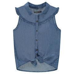 Παιδικά - Αμάνικο πουκάμισο από tencel που δένει μπροστά