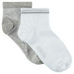 Σετ με 2 ζευγάρια μονόχρωμες κοντές κάλτσες