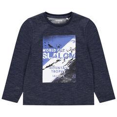Μακρυμάνικη μπλούζα ζέρσεϊ με τυπωμένο τοπίο