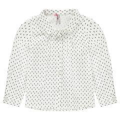 Μακρυμάνικο πουκάμισο με εμπριμέ μοτίβο