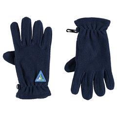 Φλις γάντια με σήμα από καουτσούκ σε τριγωνικό σχήμα