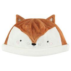 Βελουτέ σκούφος σε σχήμα κεφαλιού αλεπούς