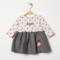 Μακρυμάνικο φόρεμα 2 σε 1 με πουά και στάμπες Μίνι της Disney