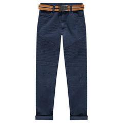 Παντελόνι από τουίλ σε γραμμή slim με αφαιρούμενη ζώνη