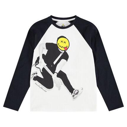 Παιδικά - Μακρυμάνικη μπλούζα από ζέρσεϊ με τυπωμένη φιγούρα και στάμπα ©Smiley
