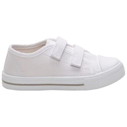 Λευκά αθλητικά παπούτσια με βέλκρο, νούμερα 24 έως 35