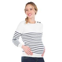 Πλεκτή μαρινιέρα εγκυμοσύνης με ζακάρ ρίγες