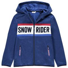 Παιδικά - Ζακέτα του σκι με κουκούλα και φερμουάρ στις τσέπες