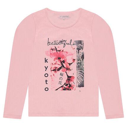 Παιδικά - Μακρυμάνικη μπλούζα με τυπωμένη φωτογραφία μπροστά