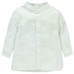 Εμπριμέ πουκάμισο με μοτίβο αστέρια και μάο γιακά