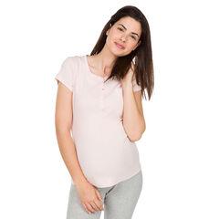 Mπλούζα εγκυμοσύνης για το σπίτι με λαικόκοψη με κουμπάκια