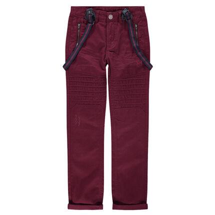 Παιδικά - Παντελόνι από τουίλ ύφασμα με ραφές και αφαιρούμενες τιράντες