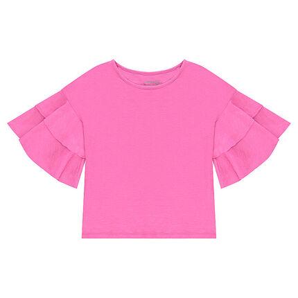 Παιδικά - Ζέρσεϊ μπλούζα με βολάν στα μανίκια