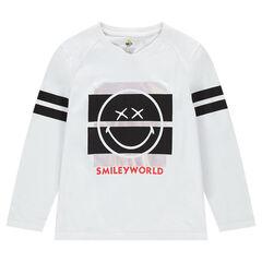 Παιδικά - Μακρυμάνικη μπλούζα ζέρσεϊ με στάμπα