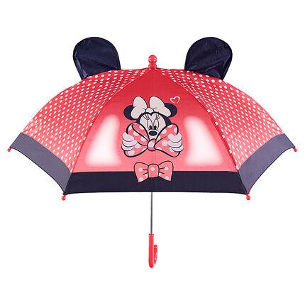 Ομπρέλα Minnie της ©Disney με πουά μοτίβο και ανάγλυφα αυτάκια