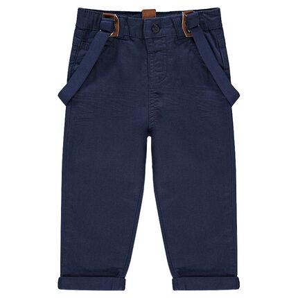 Παντελόνι από τουίλ ύφασμα με ελαστικές αφαιρούμενες τιράντες