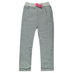 Pantalon loose en coton fantaisie