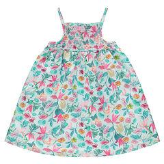 Φλοράλ φόρεμα με τιράντες