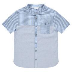 Παιδικά - Κοντομάνικο πουκάμισο με ρίγες και τσέπες