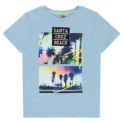 Παιδικά - Κοντομάνικη μπλούζα με τυπωμένα τοπία