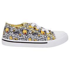 Χαμηλά πάνινα αθλητικά παπούτσια με κορδόνια ©Smiley