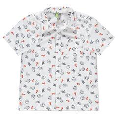 Κοντομάνικο πουκάμισο με μοτίβο σε όλη την επιφάνεια και τσέπη bdd30323a0d