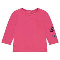 Μακρυμάνικη μπλούζα από ζέρσεϊ με κεντημένα μοτίβα