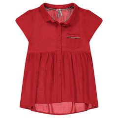 Παιδικά - Κοντομάνικο πουκάμισο σε φαρδιά γραμμή σε στιλ τουνίκ