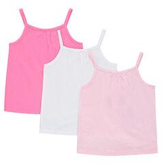 Σετ 3 ζέρσεϊ μπλουζάκια με λεπτές τιράντες