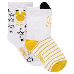 Σετ με 2 ζευγάρια κάλτσες με μοτίβο Mickey της ©Disney