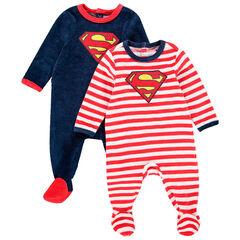 Σετ από 2 φορμάκια βελουτέ Superman για bebe αγόρι , Orchestra
