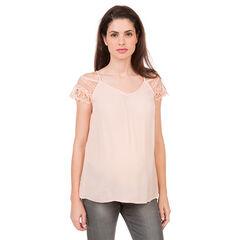 Έξωμη μπλούζα εγκυμοσύνης από δαντέλα