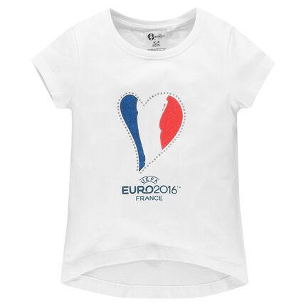 Junior - Tee-shirt manches courtes EURO 2016™ print coeur drapeau France
