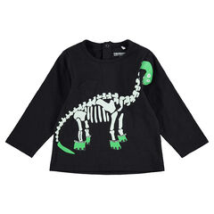 Μακρυμάνικη μπλούζα HALLOWEEN με τυπωμένο σκελετό δεινόσαυρου