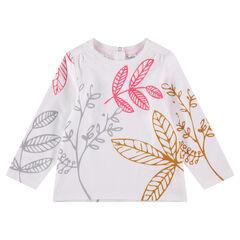 Μακρυμάνικη μπλούζα με μοτίβο σε χαβανέζικο στιλ που κάνει αντίθεση