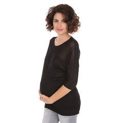 Πλεκτό εγκυμοσύνης σε αζούρ και κανονική πλέξη