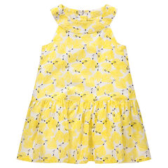 Αμάνικο φόρεμα με εμπριμέ μοτίβο σε όλη την επιφάνεια