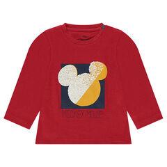 Βαμβακερή μπλούζα Disney με στάμπα περίγραμμα του Μίκυ
