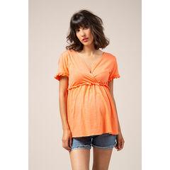 Κοντομάνικη μπλούζα εγκυμοσύνης και θηλασμού